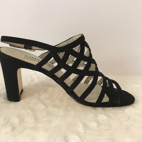 733f2f2e231 Sam   Libby Shoes - (Sam   Libby) Black Strappy Sandal Heels ...